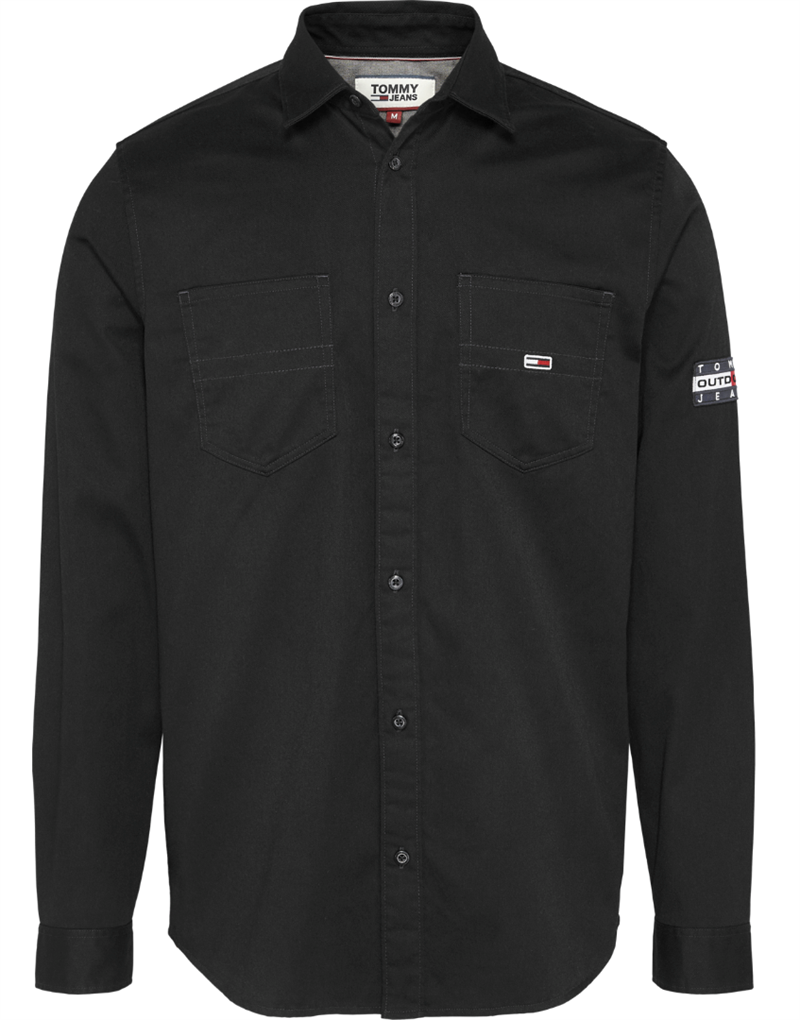 Tommy Jeans TJM Twill pocket shirt - Tommy Black