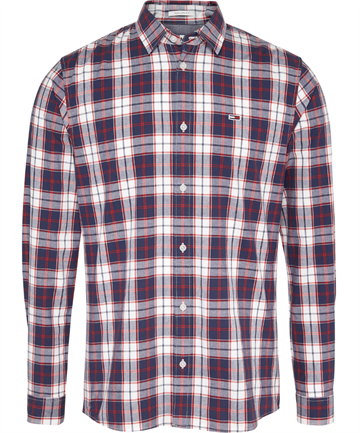 Tommy Jeans TJM Poplin multi check shirt - Classic White