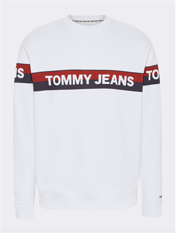 Tommy Jeans TJM Band logo crew - White
