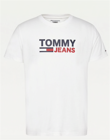 Tommy Jeans TJM Corp logo t-shirt - White