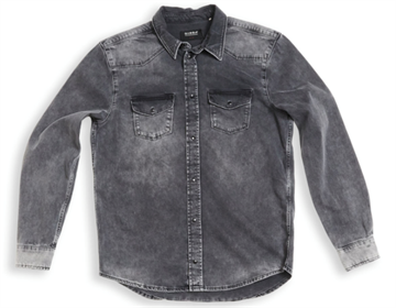 Gabba Ron Denim Ls Shirt - Grey