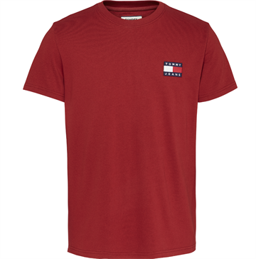 Tommy Jeans TJM Badge tee - Wine Red