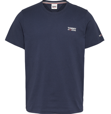 Tommy Jeans TJM Regular Corp logo c neck t-shirt - Twilight navy