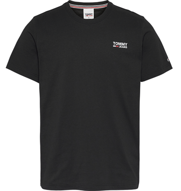 Tommy Jeans TJM Regular Corp logo c neck t-shirt - Black