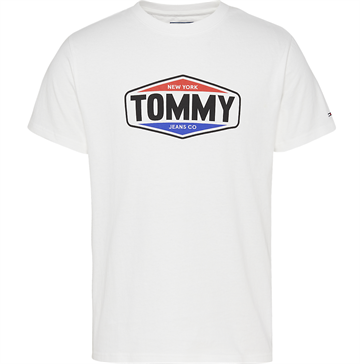 Tommy Jeans TJM Printed Tommy Logo Tee - White