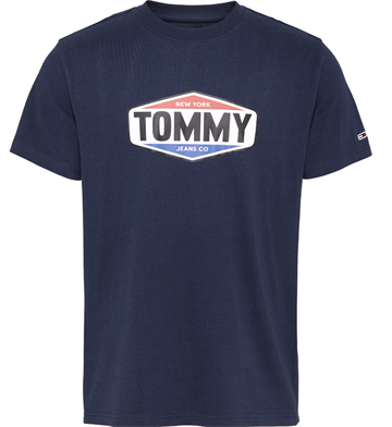 Tommy Jeans TJM Printed Tommy Logo Tee - Twilight Navy