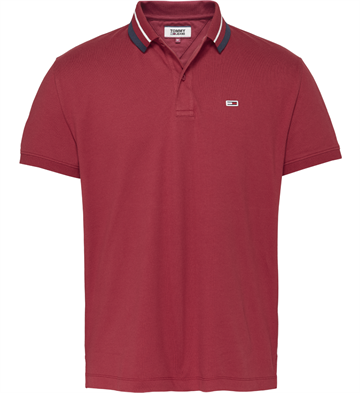 Tommy Jeans TJM Classics Tipped Polo - Wine Red