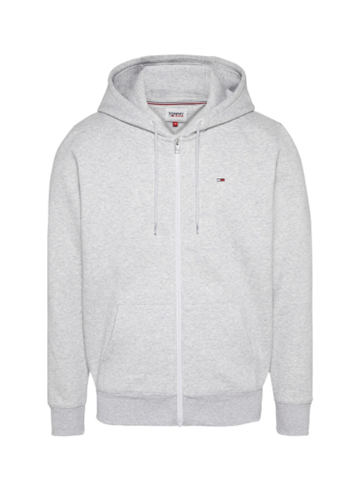 Tommy Jeans TJM Regular Fleece Zip-Hoodie - Lt Grey