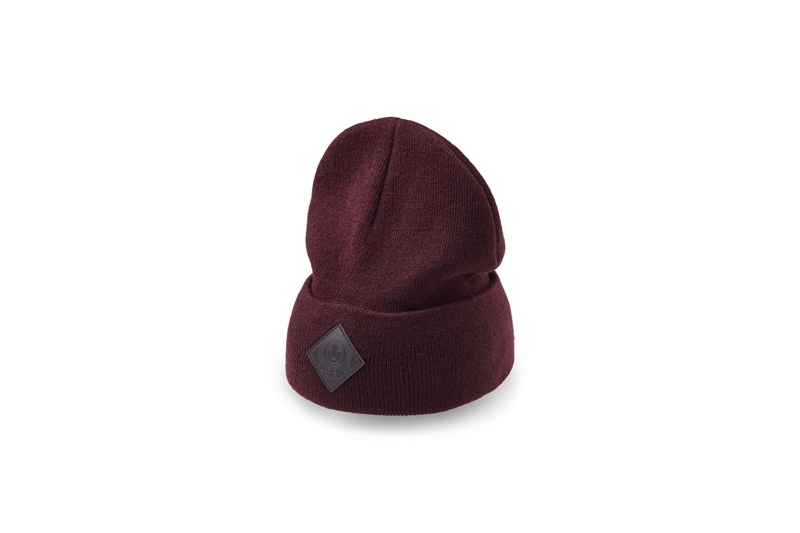 Upfront Official 2 Fold Beanie - Burgundy Black