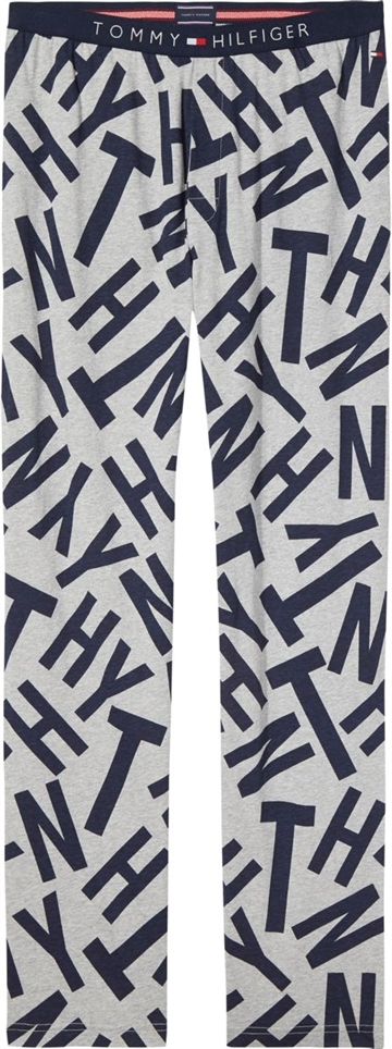 Tommy Hilfiger Jersey Pant Print - Grey Heather