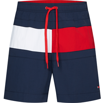 Tommy Hilfiger Medium Drawstring Badeshorts - Pitch Blue