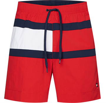 Tommy Hilfiger Medium Drawstring Badeshorts - Red Glare