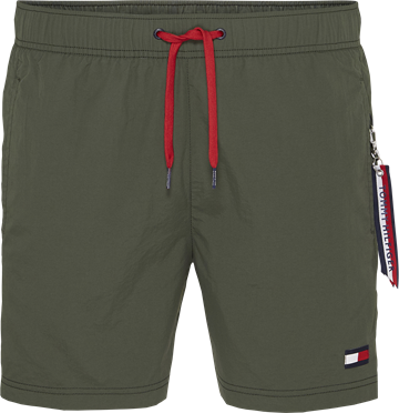 Tommy Hilfiger SF medium drawstring swimshorts - Army