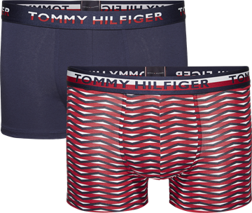 Tommy Hilfiger underbukser 2-pack trunk - Navy blazer/Tango Red