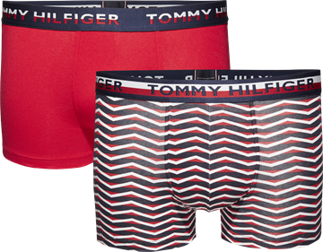 Tommy Hilfiger underbukser 2-pack trunk - Tango red/Navy blazer