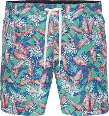 Tommy Hilfiger Medium Drawstring swimshorts - Tropic Leaf Spectra Green