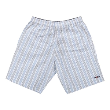 Le Fix Vertical Stripe shorts - White