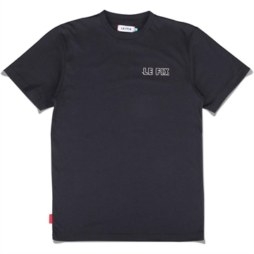 Le Fix Blury College tee - Navy