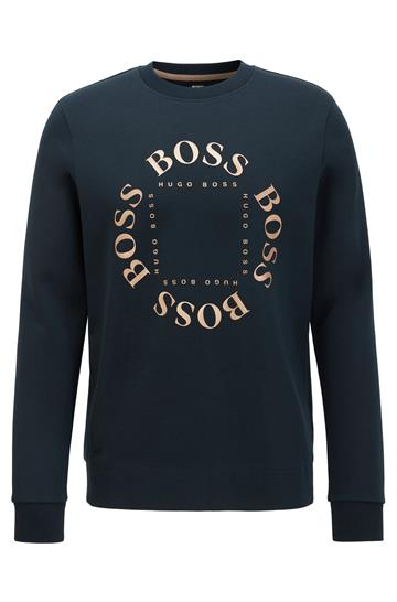 BOSS Athleisure Salbo Circle Crewneck - Navy