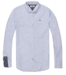 Tommy Jeans Basic Solid Skjorte - Light Blue
