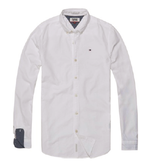 Tommy Jeans Basic Solid Skjorte - Classic White