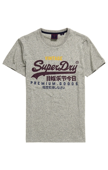 Superdry VL Tri t-shirt - Silver Glass Feeder