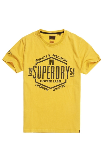 Superdry Copper Label Tee - Yolk Yollow