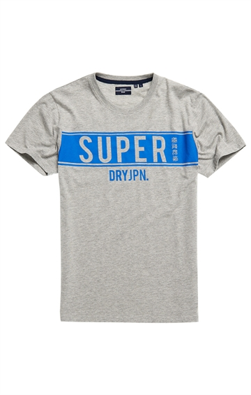 Superdry SDRY Panel Tee - Grey Marl