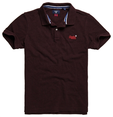 Superdry Classic Pique Polo - Deepest Burgundy