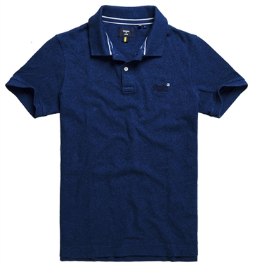 Superdry Classic Pique Polo - Mid Oasis Marl