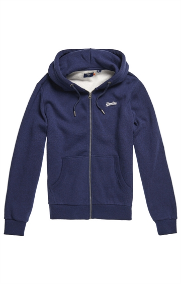 Superdry OL Classic Zip Hood - Midnight Blue Grit