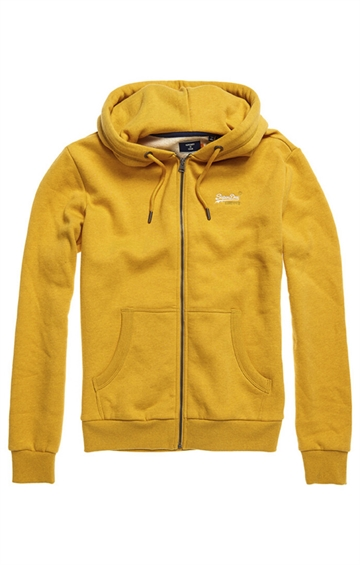 Superdry Orange Label Classic zip hood - Upstate Gold Marl