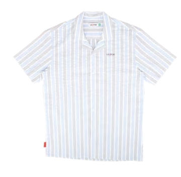 Le Fix Vertical Stripe shirt ss - White