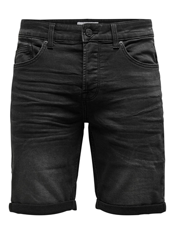 Only & Sons Ply REG jog shorts - Black