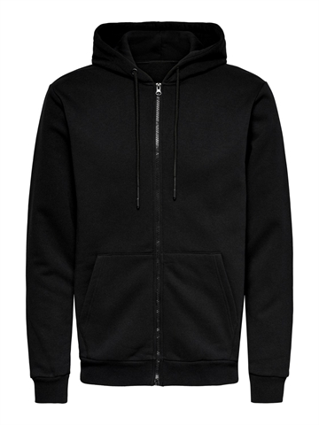 ONLY & SONS Ceres life ZIP THR. Hoodie sweat - Black