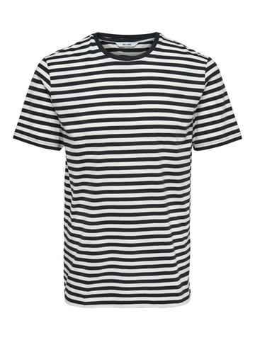 Only & Sons Jamie life ss stripe reg t-shirt - Dark Navy
