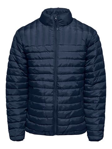 Only & Sons Paul Quilted Highneck Jacket - Dress Blue