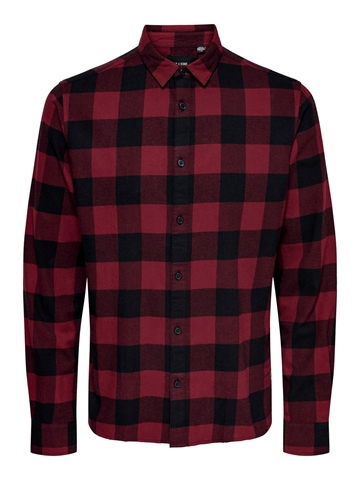 Only & Sons Gudmund Life LS Checked Shirt - Carbenet