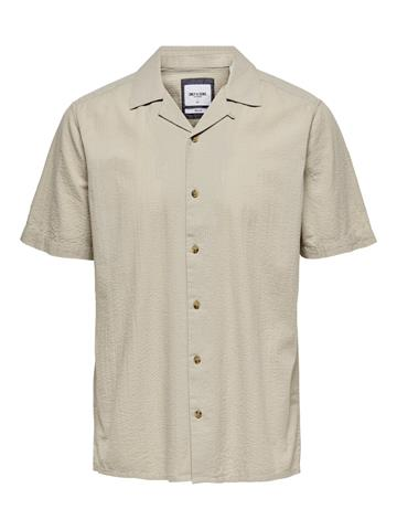 Only Sons Steve Life SS Seersucker shirt - Pelican