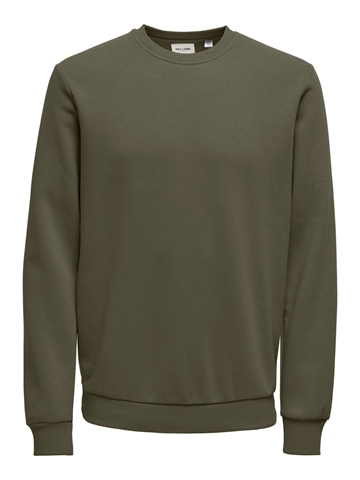 Only & Sons Ceres Life Crew Neck - Olive Night