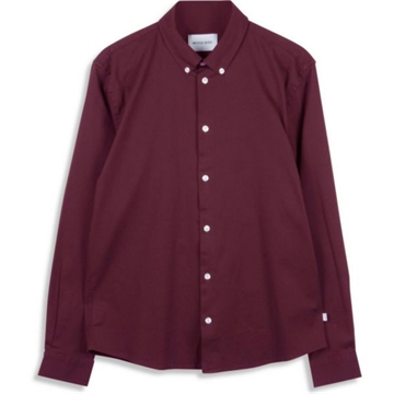Woodbird Trime L/S Shirt - Bordeaux