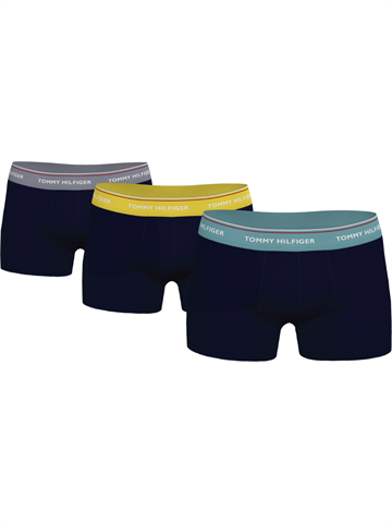 Tommy Hilfiger Underbukser 3-PACK Trunk - Th Yellow/Sublunar/Tid Teal