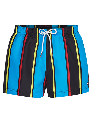 Tommy Hilfiger Medium Drawstring Print swimshorts - Tommy Archive Stripe Black