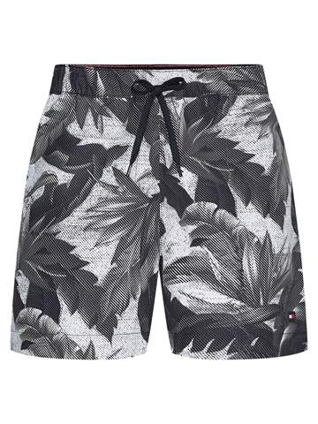 Tommy Hilfiger Medium Drawstring Print swimshorts - Hil Vintage Tropic Inverted Black