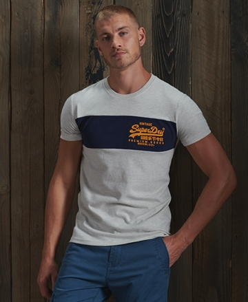 Superdry VL Panel t-shirt - Queen Marl
